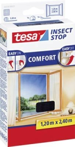 Moskitiera na okno Tesa Insect Stop Comfort, 120 x 240 cm,antracyt